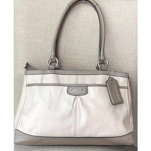 Coach Park Leather Carryall Satchel Handbag F19728
